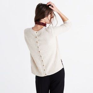 Madewell Backroad Button Back Sweater